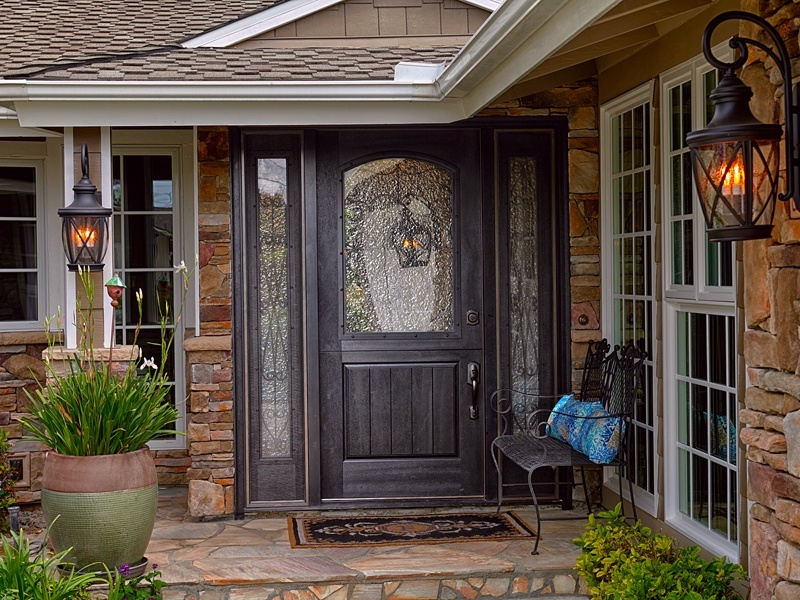 Two Panel Doors Front Home