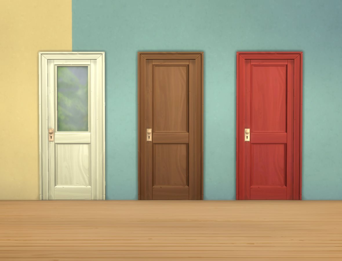Image of: Two Panel Doors Paint