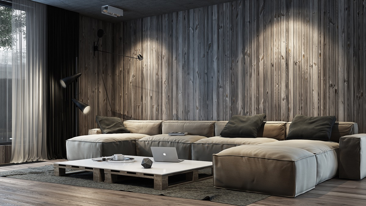 Image of: Unique Rustic Wood Paneling for Walls