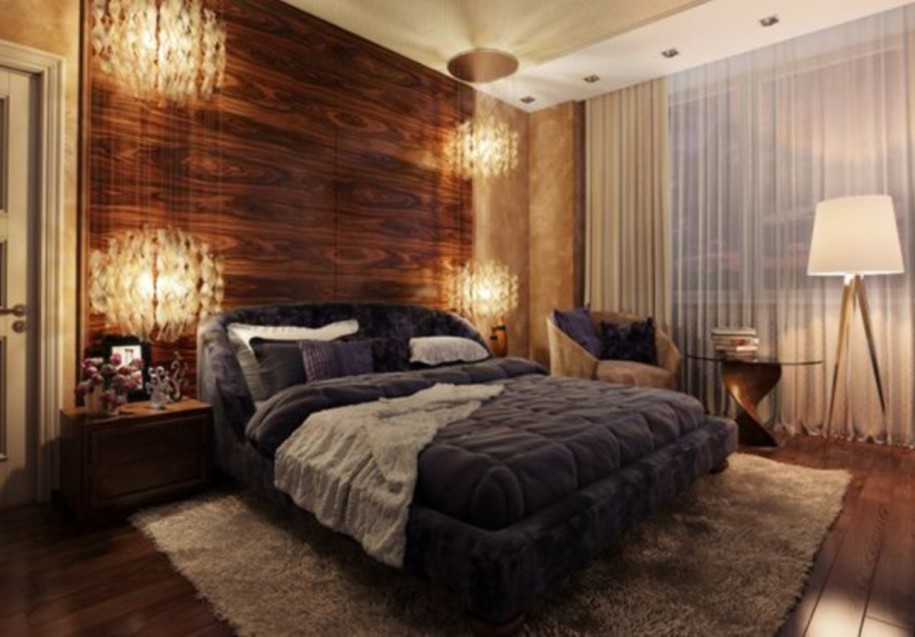 Wall Wood Panel Bedroom