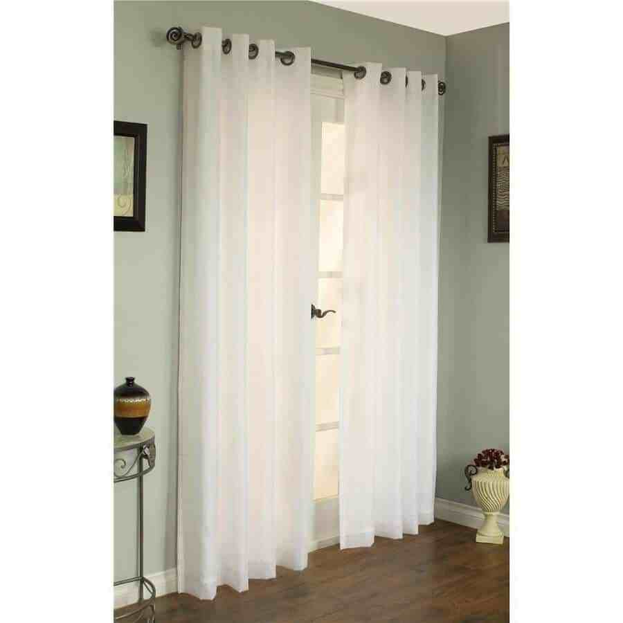 Image of: White Patio Door Panels