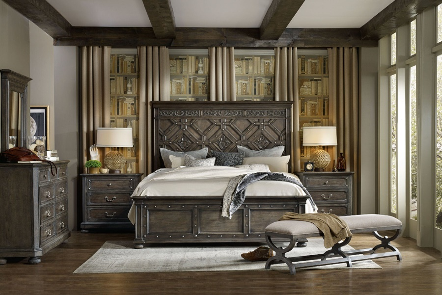Image of: Wonderful Wood Panel Bed