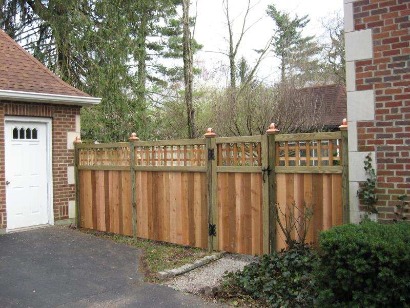 Image of: Wood Fencing Panels Low