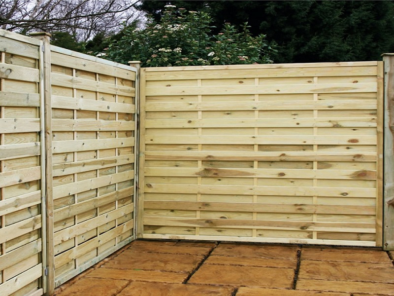 Image of: Wood Fencing Panels Style