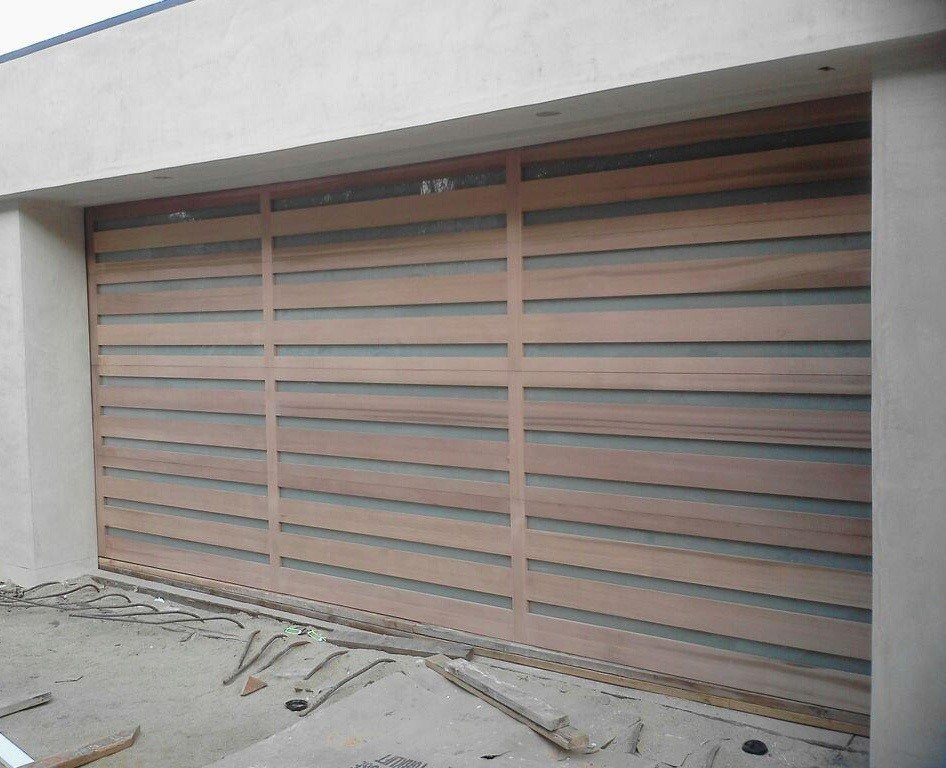 Image of: Wood Garage Door Panels Contemporary
