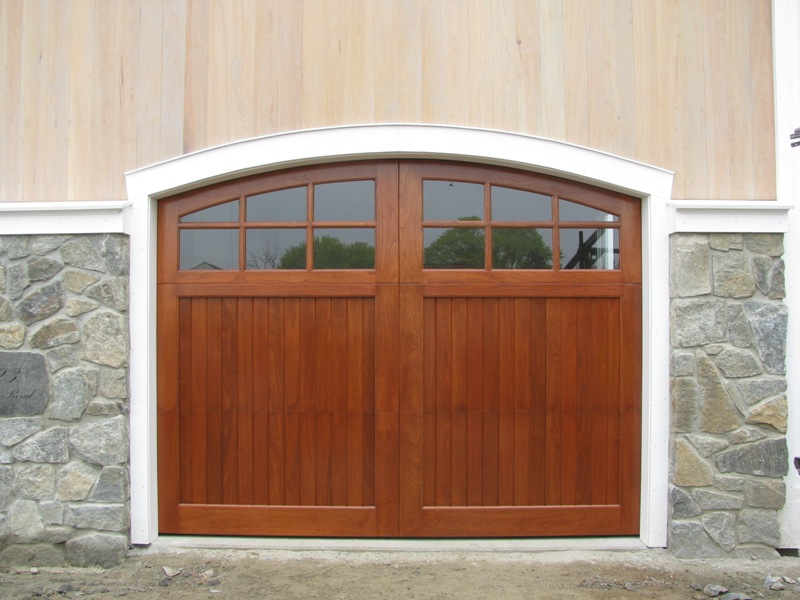 Easy Job Painting Wood Garage Door Panels