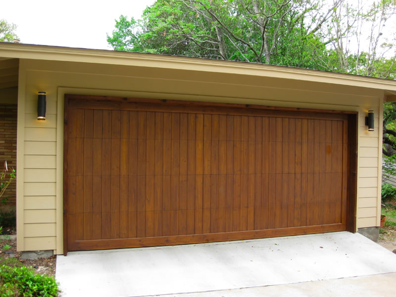 Image of: Wood Garage Door Panels Design