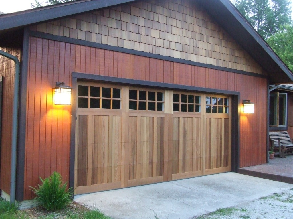 Image of: Wood Garage Door Panels Popular