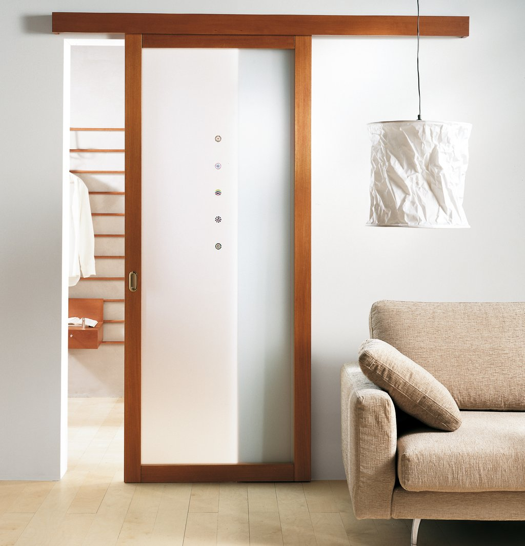 Wood Glass Sliding Panel Closet Doors