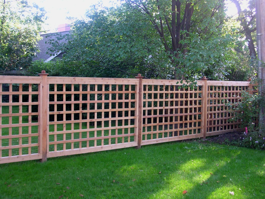 Image of: Wood Lattice Fence Panels Garden
