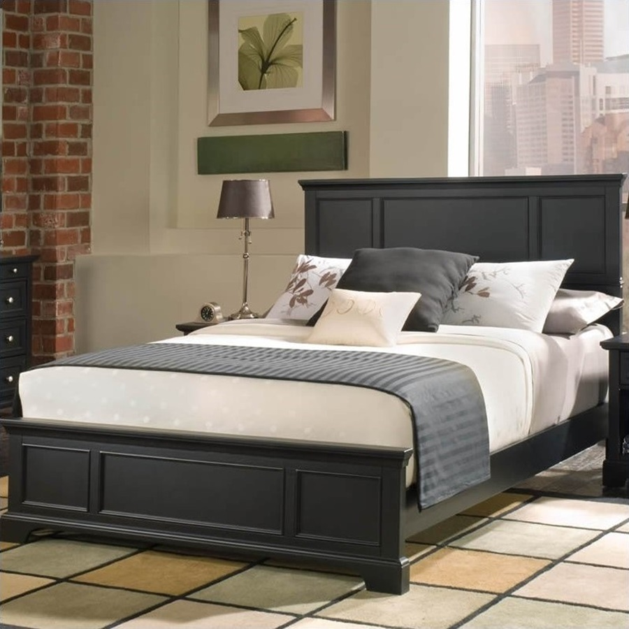 Image of: Wood Panel Bed Queen