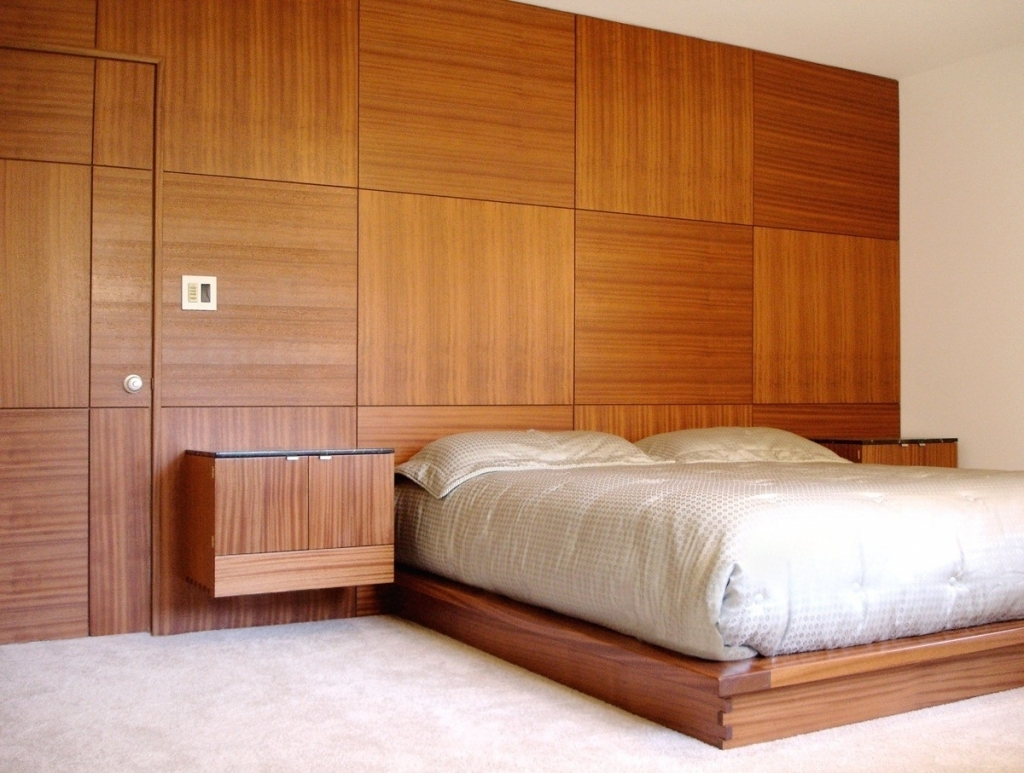 Image of: Wood Panel Bedroom Design