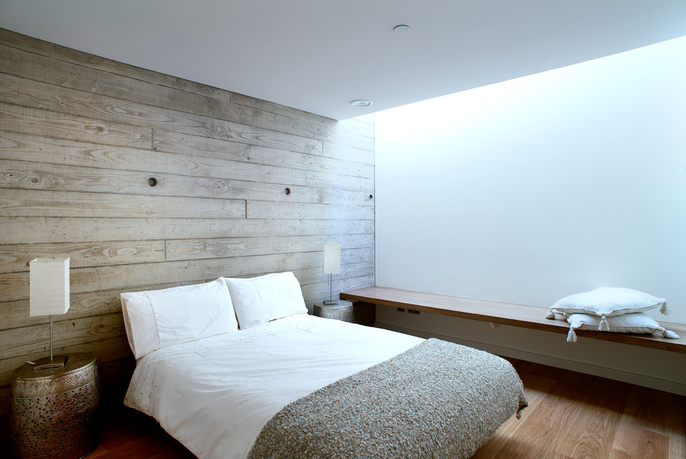 Wood Panel Bedroom With Daylight