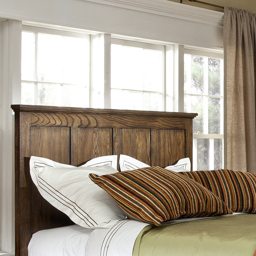 Image of: Wood Panel Headboard King