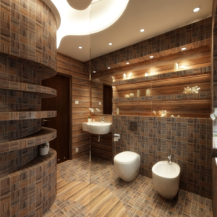 Wood Panel Wall Decor Bathroom