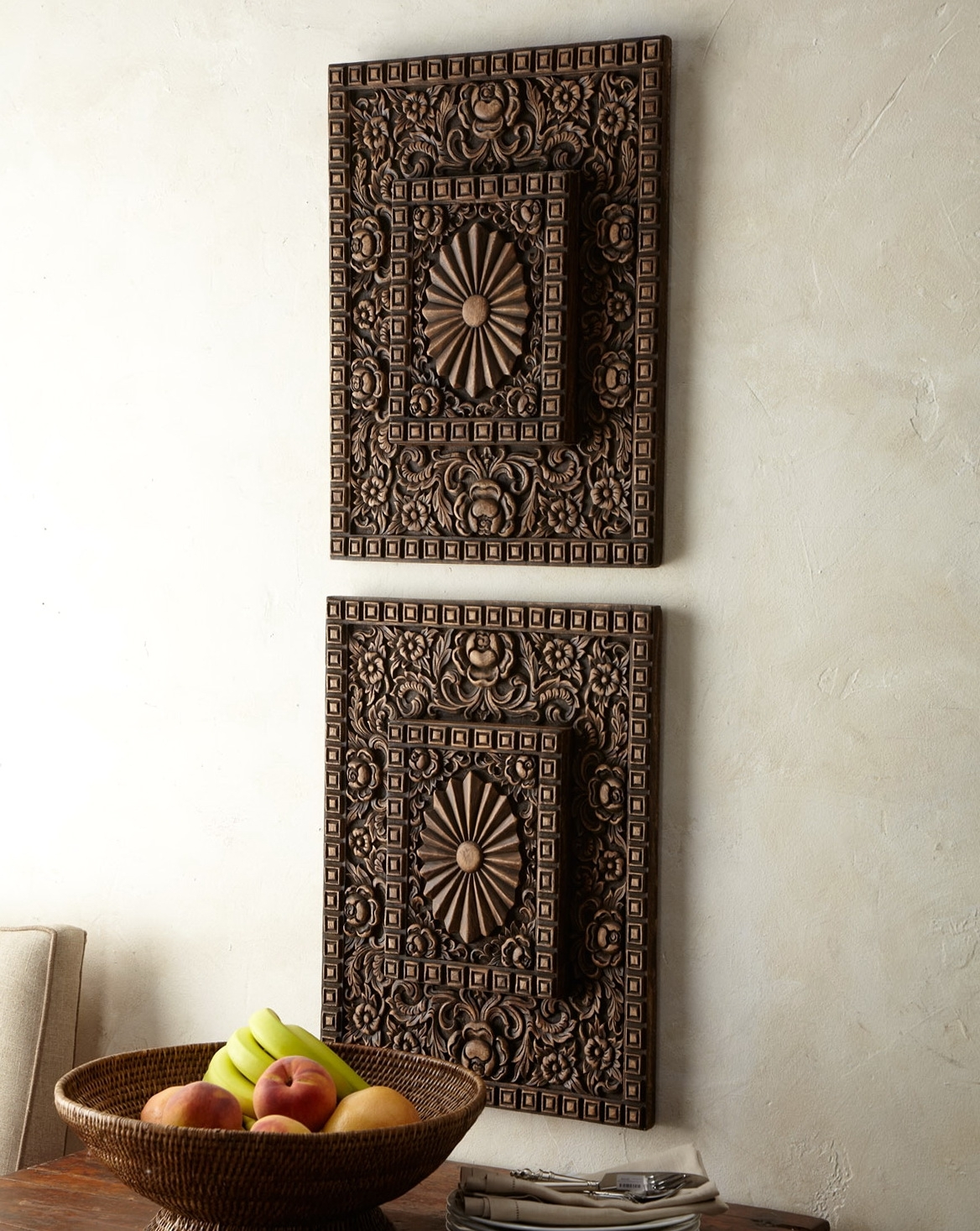 Wood Panel Wall Decor Dining