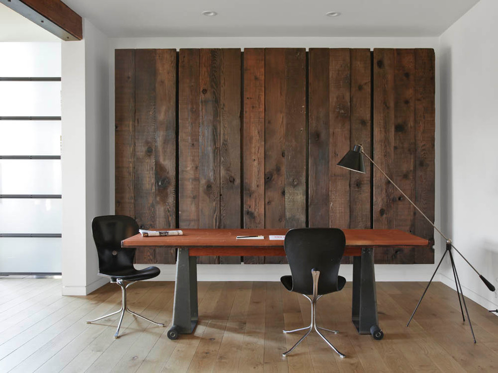 Wood Panel Wall Decor Office