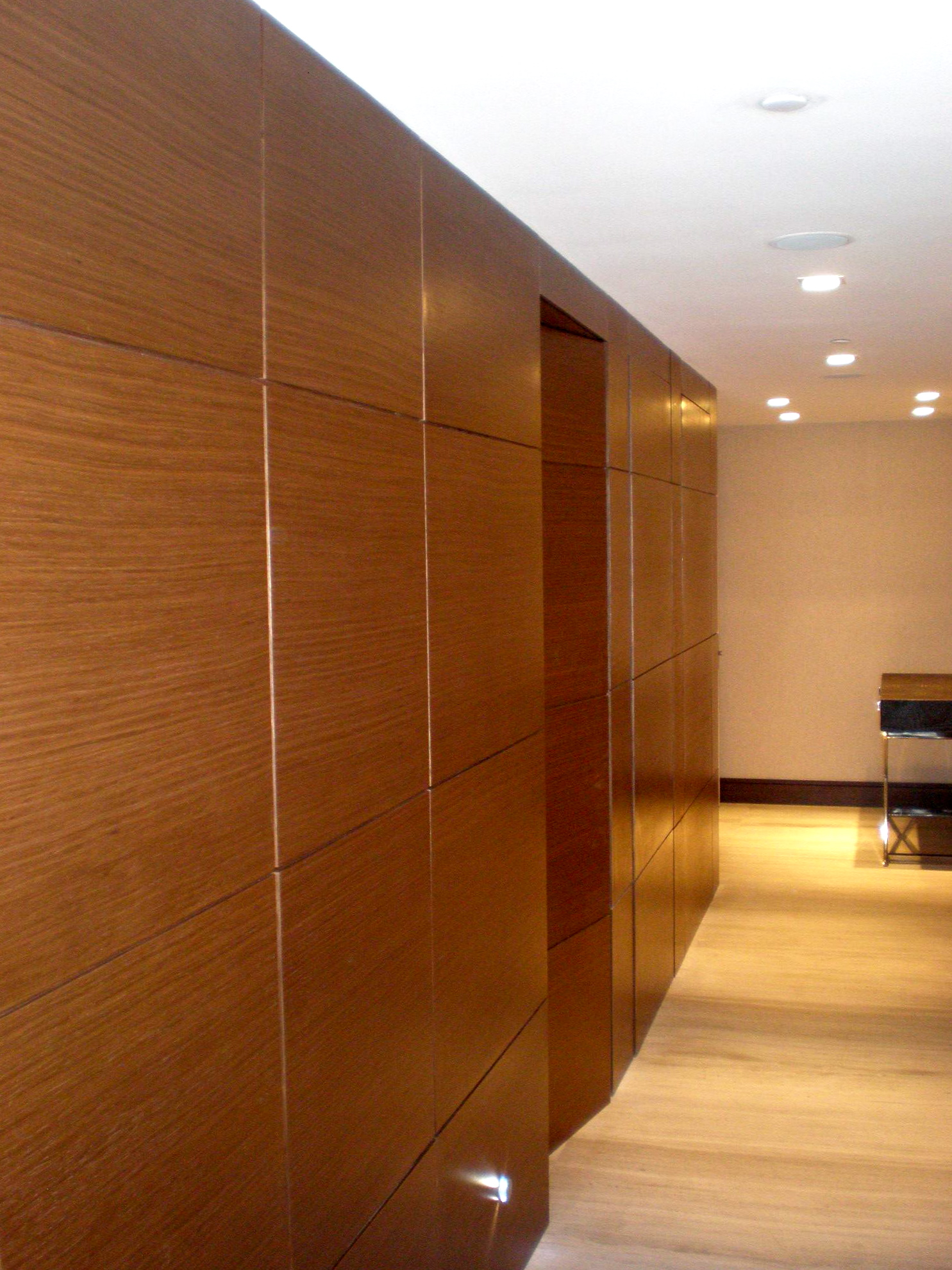 Wood Paneled Walls Hallway
