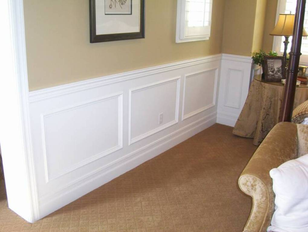 Wood Paneled Walls White