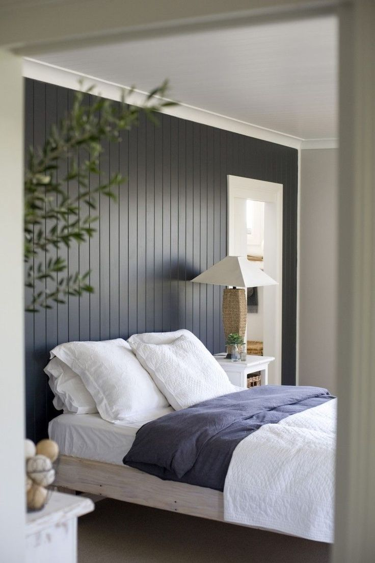 Wood Paneling Makeover Bedroom