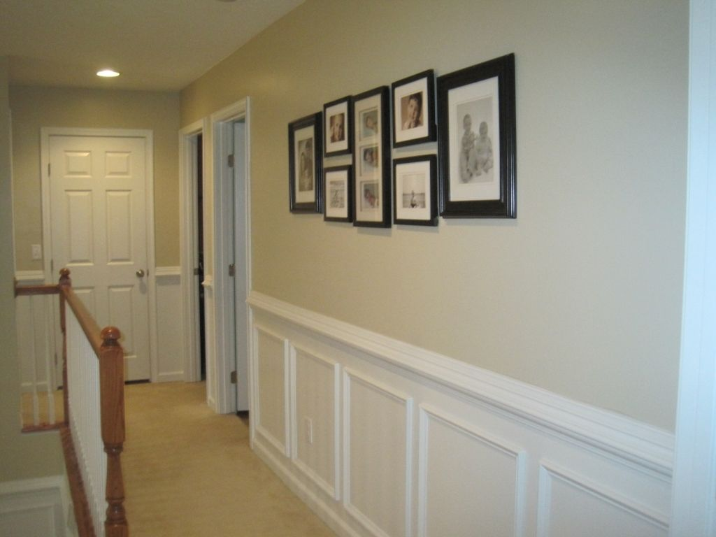 Image of: Wood Paneling Makeover Paint