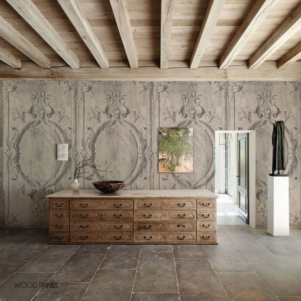 Image of: Wood Paneling Wallpaper Awesome