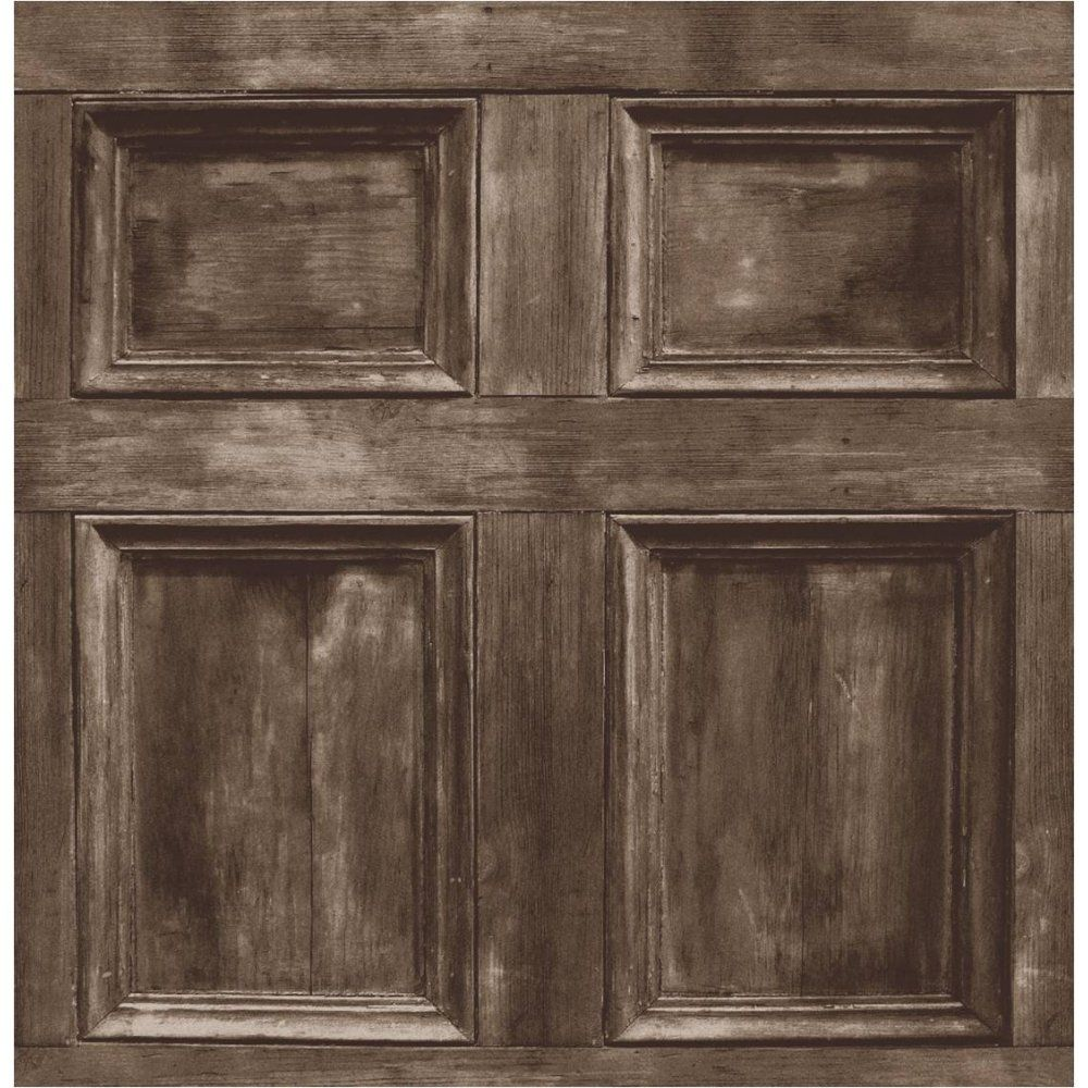 Wood Paneling Wallpaper Door