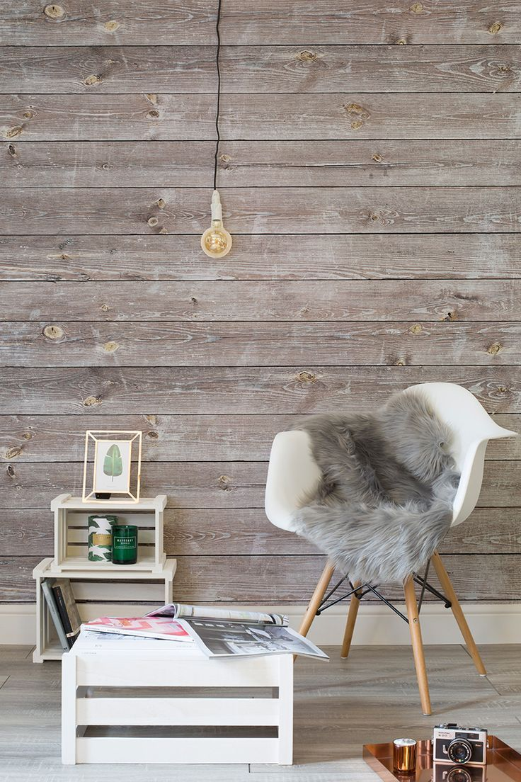 Wood Paneling Wallpaper Modern