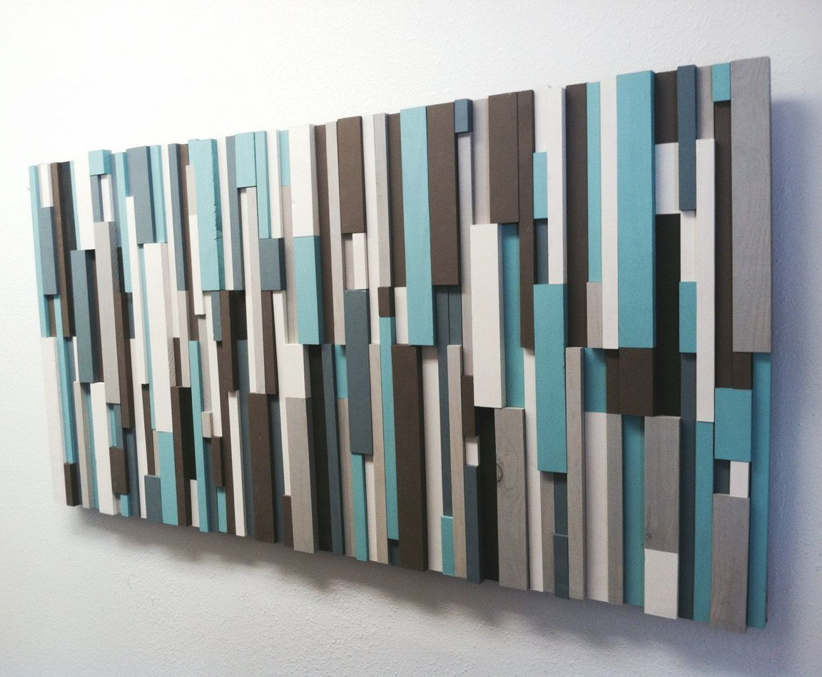 Wood Wall Art Panels Colorfull