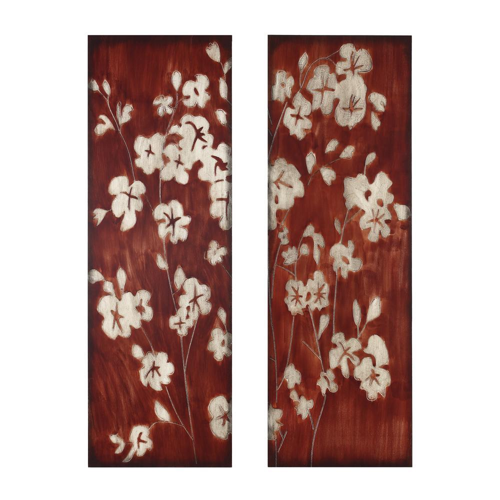 Wood Wall Art Panels Red