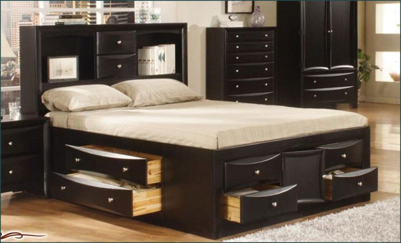 Picture of: 12 Drawer King Storage Bed
