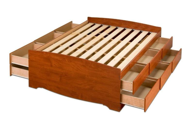 Picture of: 12 Drawer Storage Bed Queen