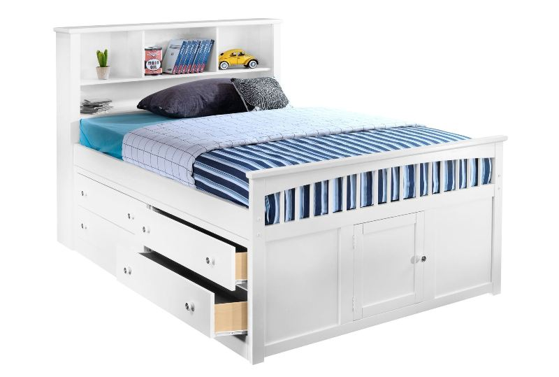 Full Bed With Storage Drawers Plan