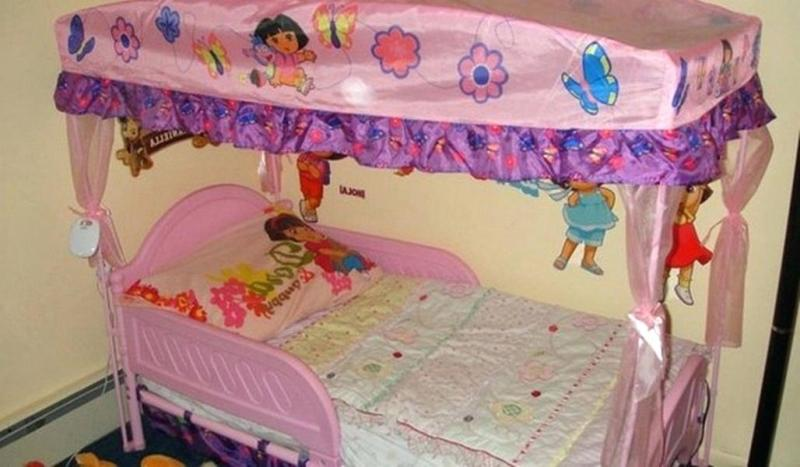 Image of: Canopy For Toddler Bed