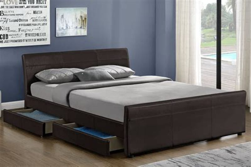 Picture of: Contemporary King Beds With Storage Drawers Underneath