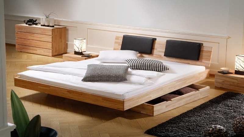 Full Size Bed With Storage Drawers