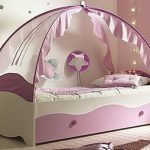 Girls Princess Canopy Toddler Bed