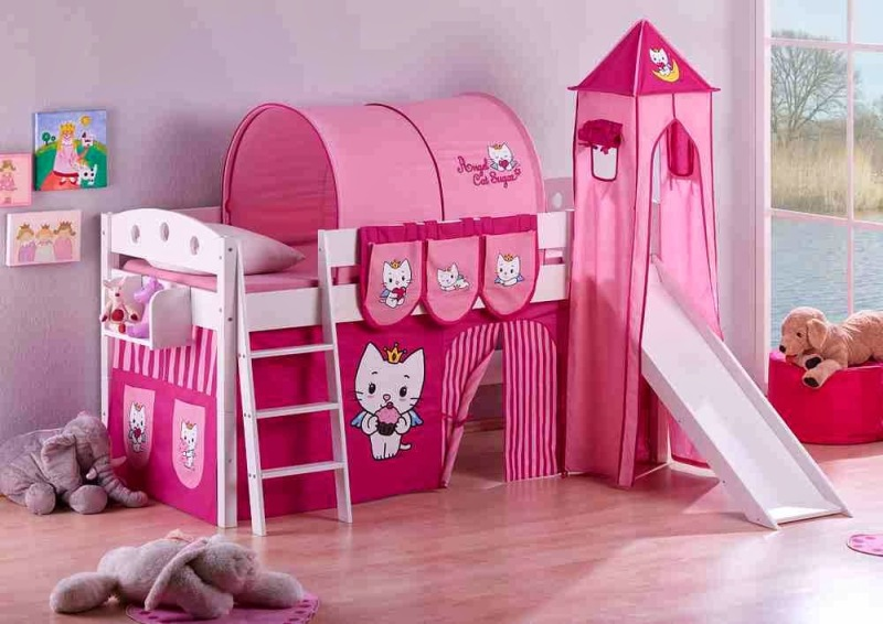 Image of: Hello Kitty Toddler Bed With Canopy