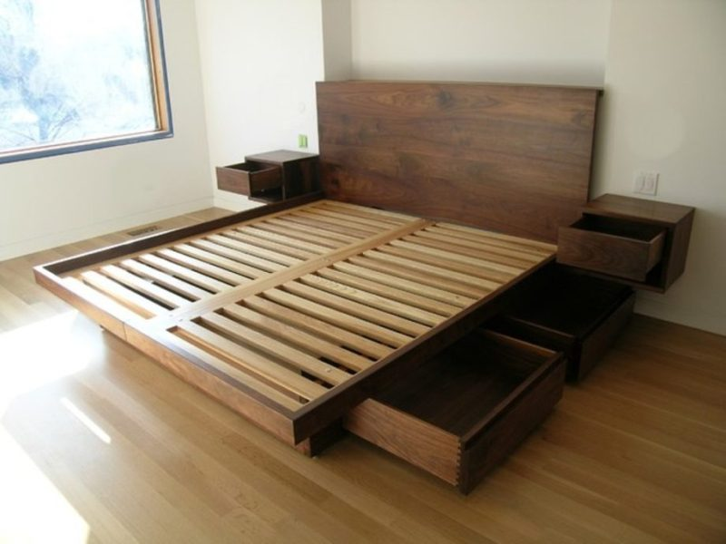 Picture of: King Beds With Storage Drawers Underneath Plans