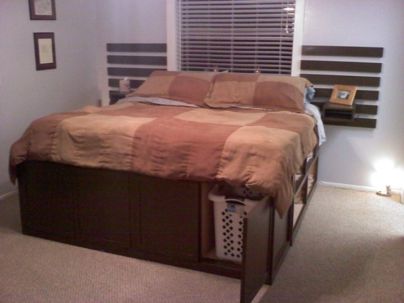 King Size Bed Frame With Drawers Underneath