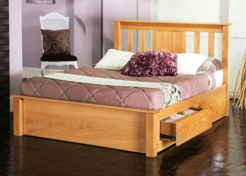 Image of: King Size Bed Frame With Drawers