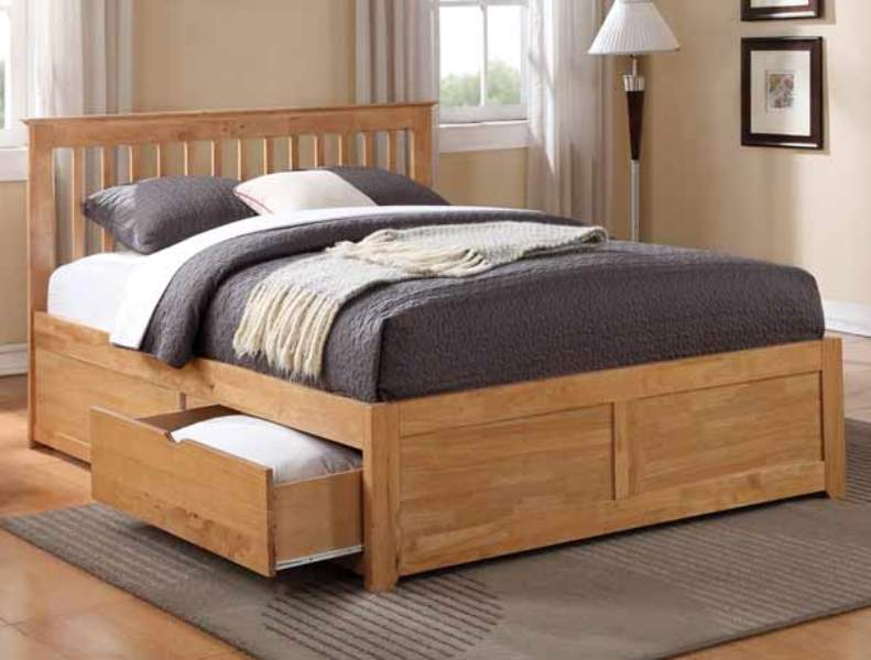 Image of: King Size Bed With Drawers Below