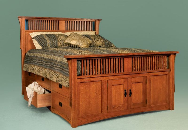 Image of: King Size Bed With Drawers