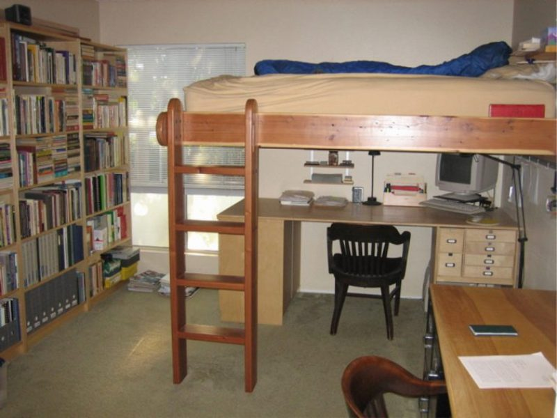 King Size Bunk Bed With Desk