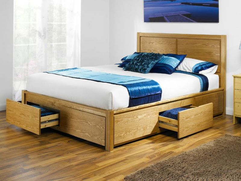 Image of: King Size Platform Bed With Drawers Underneath