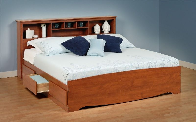 Image of: King Size Platform Bed With Drawers