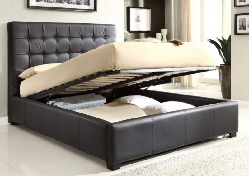 Modern Queen Platform Bed Frame With Drawers