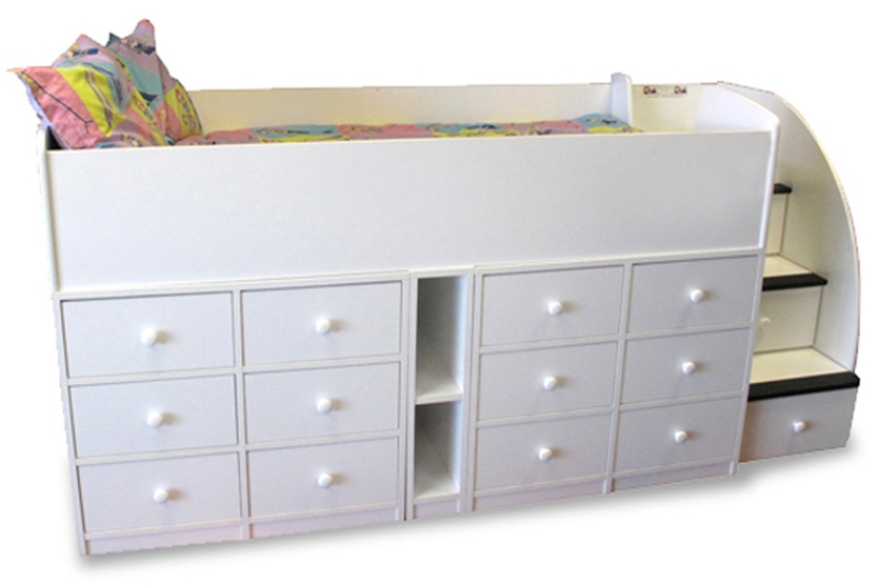 Modern Toddler Bed With Drawers Underneath