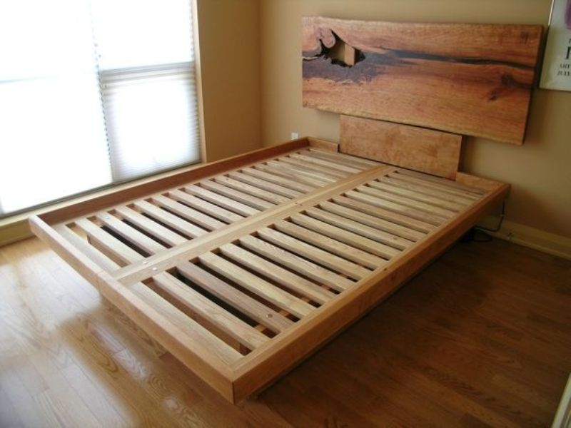 New Queen Platform Bed Frame With Drawers