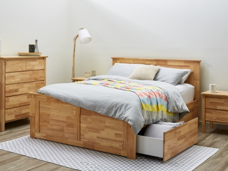 Image of: Nice King Size Bed With Storage Design
